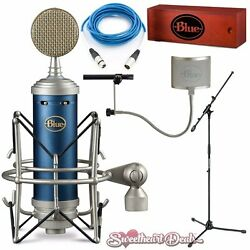 Blue Bluebird SL Condenser Microphone Deluxe Studio Package Recording Bundle