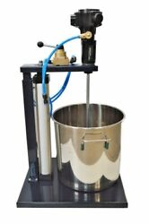 Pneumatic Paint Mixer With 5 Gallon Stainless Steel Barrel Coating Blender