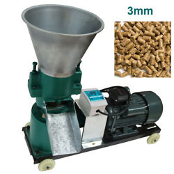 220v 3mm Farm Animal Livestock Pellet Mill Feed Pellet Press Production Max 80kg