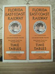 Florida East Coast Railway System Public Timetable May 15,1937--excellent