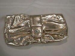 AVON BRAND GOLD CLUTCH PURSE WITH STRAP NEW $4.95