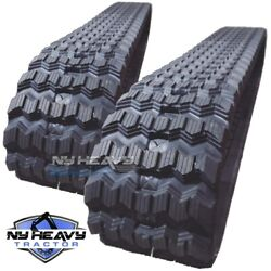 New Zig Zag Rubber Tracks Set Of Two For Bobcat T740 450x86x55 17.7