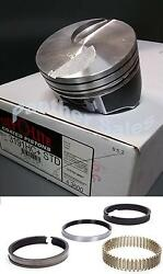 Silvolite Hypereutectic Flat Top Coated Pistons And Hastings Rings Ford 460 .030