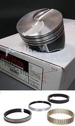 Silvolite Hypereutectic Flat Top Coated Pistons And Hastings Rings Ford 460 .040