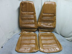1970 Mustang Standard Front Bucket Seat Upholstery Reproduction Medium Ginger
