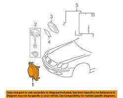 MERCEDES OEM 10-13 E63 AMG-Disc Brake Pad Electronic Wear Sensor 2115400617