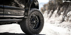 20 20x10 Fuel D581 Triton Black Wheels 35 At Tires Package 8x6.5 Chevy Gmc