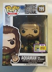 Sdcc 2017 Funko Exclusive Aquaman And Motherbox Justice League Limited Edition