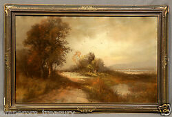19th Century William Henry Chandler Pastel Painting American 1854-1928