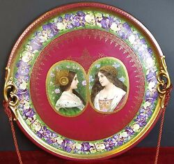 Porcelain Plate. Royal Vienna. Glazed. Marks On The Base. 19th - 20th.