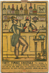 1930andrsquos John Held Jr. Illustrated Mechanical Cocktail Bar Recipe Chart
