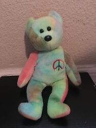 Original 1996 Beanie Baby Peace Sign No Tag But It Is In Very Good Condition