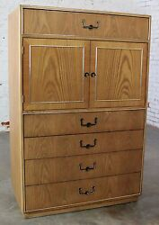 On Sale Vintage Campaign Style Gentlemen's Chest By Founders Furniture In Oak