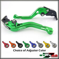Strada 7 Cnc Shorty Adjustable Levers Brake Clutch Aprilia Shiver 900 2017 Green
