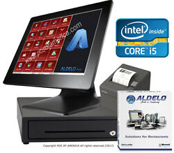 Pos System I5 4gb 64gb Ssd Restaurant Bakery Bar With Aldelopro Software New
