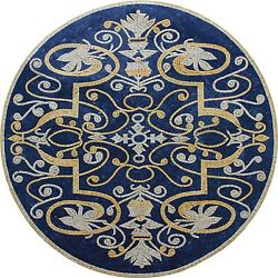 Blue Background Ancient Design 40 Floor Wall Pool Decor Marble Mosaic Md1983