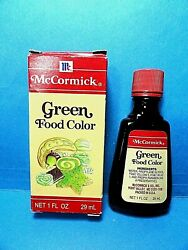 Mccormick Green Food Coloring Spice Jar Never Used