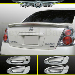 For 2002-2006 Nissan Altima Factory Style Spoiler + Chrome Door Handle Covers