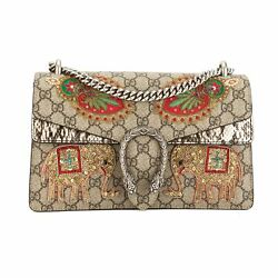 Gucci GG Supreme Canvas Dionysus Embroidered Shoulder Bag (New with Tags)