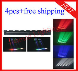 4pcs 8*10W RGBW 4 in 1 Led Beam Moving Bar Flood Disco Light Free Shipping