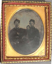 Civil War Soldiers - Tintype 1/4 Plate, Holmes Ny