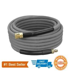 50and039 Pressure Washer Hose Non-marking - 4000 Psi 50 Ft. Length Gray With Couplers