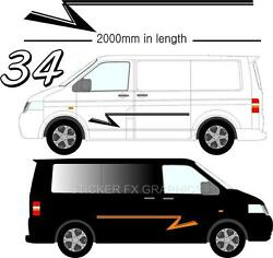 Graphic Decals Self Adhesive Vinyl Stickers Any Vehicle Vw Campers Motorhome D34