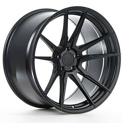 22andrdquo Rohana Rf2 Matte Black Concave Wheels For Bentley Continental Gt Flying Spur