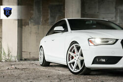 """20"""" Rohana Rc7 Machined Silver Concave Rims For Audi A4 S4 A6 S6 A5 S5 A7 S7 Q5"""