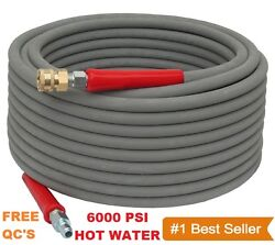 Pressure Washer Parts Hose - 6000 Psi 100 Ft 2 Wire Braid - Gray Non-marking