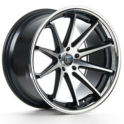 """20"""" Rohana Rc10 Machined Black Rims For Dodge Charger Challenger 300 20x9 20x10"""