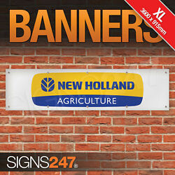 New Holland Agriculture Farming Banner Extra Large Sign Display Motorsport
