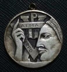 1960 Uruguay A.c.j Montevideo Ymca Young Competition Pure Art Deco Medal