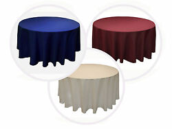 25 Pack 120 Inch Round Tablecloth Polyester Wedding 25 Color 5' Ft Table Cover