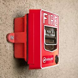 Spy-max Security Fire Alarm Pull Station Hidden Camera Motion Activated Video