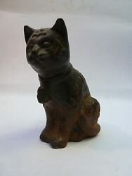 Ming Dynasty Cast Iron Seated Cat Statue