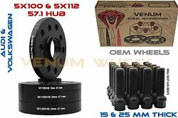 4pc 15mm And 25mm Thick Hubcentric Wheel Spacers 5x100 5x112 + Bolts Free Shipping
