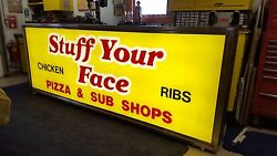 Back Lit Box Sign-stainless Steel 10ft Lg X 3ft 6 1/2in Ht X 9in Wt. Works Great