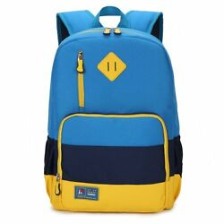 Kids Waterproof Backpack for Elementary or Middle School Boys and Girls Blue