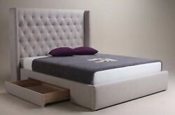 Moe's Home Blair 2-drawer Storage Bed-queen. Color Cappuccino / In Original Box