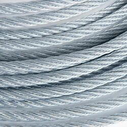 3/8 Galvanized Aircraft Cable Steel Wire Rope 7x19 2500 Feet