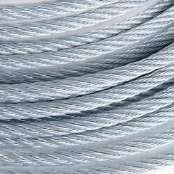 3/8 Galvanized Aircraft Cable Steel Wire Rope 7x19 3000 Feet