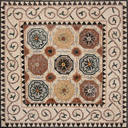 45x45 Natural Stone Tiles Wall Hanging Marble Mosaic Geo2367