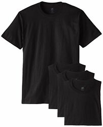 New Hanes Menand039s 5280 Comfortsoft 100 Cotton T-shirt Pack Of 4 Value Pack 5280