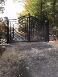 HAND MADE ANTIQUE STYLE CAST IRON DRIVEWAY GATES - GATE#14
