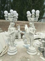 BEAUTIFUL EUROPEAN DESIGN HAND CARVED MARBLE STREET LIGHTS - JFH1