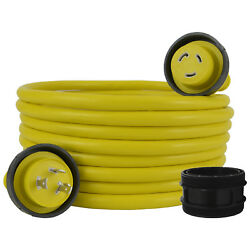 Conntek 17105-025re L5-30 30 Amp 125 Volt Marine Shore Power Cord 25ft. Yellow