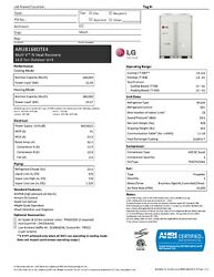 LG 14-Ton VRF Heat Recovery Condensing Unit - 460V - New