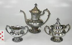 Antique C. 1906 Reed And Barton Silverplate 3-piece Tea Or Coffee Set