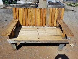 Rustic Handcrafted Bench From Reclaimed Wood